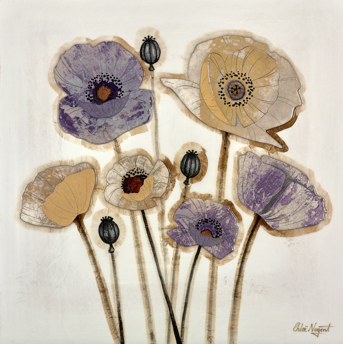 Mixed Poppies IV